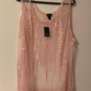 Torrid, Plus Size blush blouse, size 4